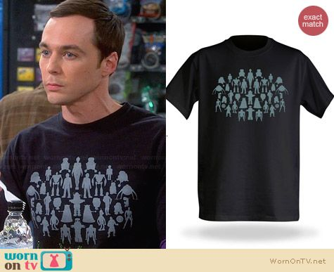 Think Geek Robots Tee worn by Jim Parsons on The Big Bang Theory