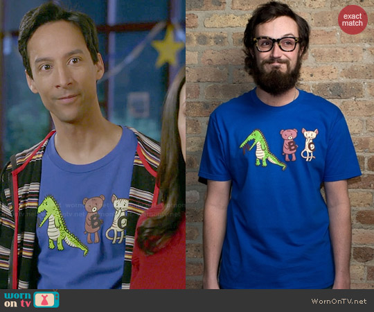 Threadless A is for Jerks! Tee worn by Danny Pudi on Community