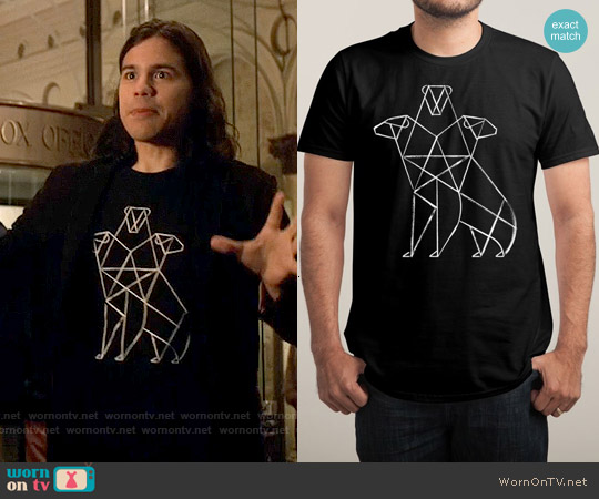 Threadless Cerbearus T-shirt worn by Carlos Valdes on The Flash