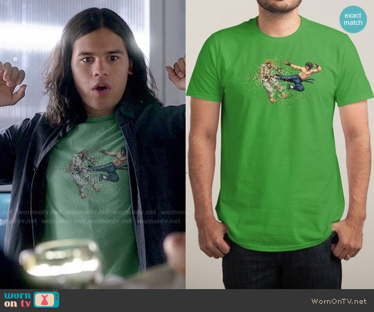 Threadless Dead Pixels T-shirt worn by Carlos Valdes on The Flash