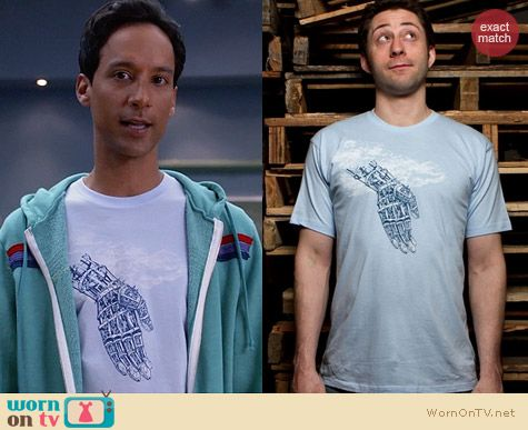 Threadless Deus Ex Machina Tee worn by Abed Nadir on Community