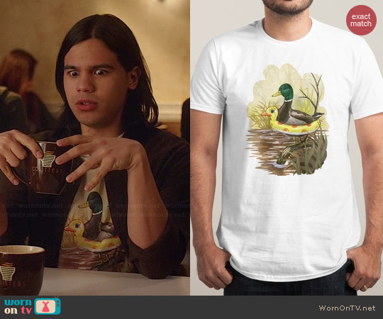 Threadless Duck in Training Tee worn by Carlos Valdes on The Flash