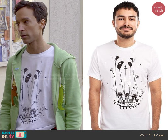 Threadless 'Fake Pandas Have More Fun' Tee worn by Abed Nadir on Community