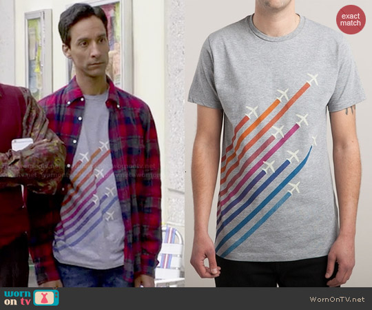 Threadless Flying Colors Tee worn by Danny Pudi on Community