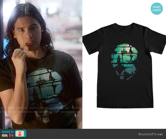 Threadless Future Shock T-shirt worn by Carlos Valdes on The Flash