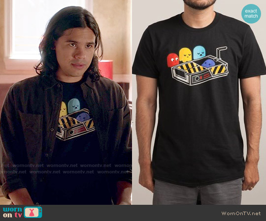 Threadless Ghost Busted T-shirt worn by Carlos Valdes on The Flash