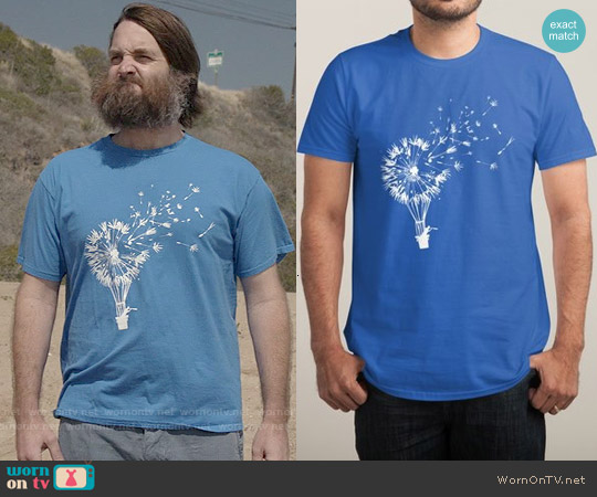 Threadless Going Where the Wind Blows Tee worn by Will Forte on Last Man On Earth