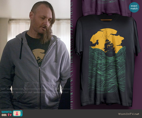 Threadless High Seas T-shirt worn by Will Forte on Last Man On Earth