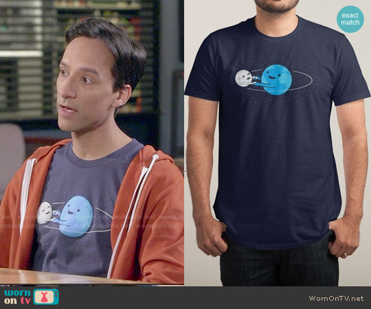 Threadless I Love Being Around You Tee worn by Danny Pudi on Community