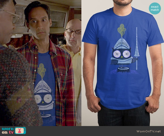 Threadless Knight Owl Tee worn by Danny Pudi on Community