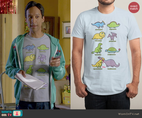 Threadless Know Your Dinosaurs Tee worn by Abed Nadir on Community