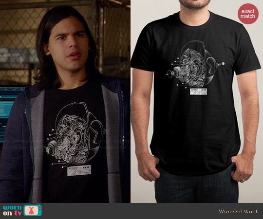 Threadless KR 00 Tee worn by Carlos Valdes on The Flash