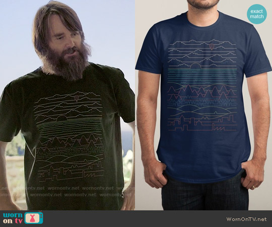 Threadless Linear Landscape T-shirt worn by Will Forte on Last Man On Earth