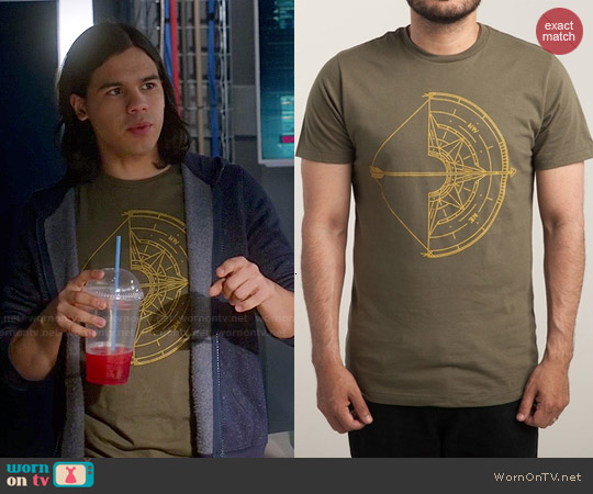 Threadless NORTH tee worn by Carlos Valdes on The Flash