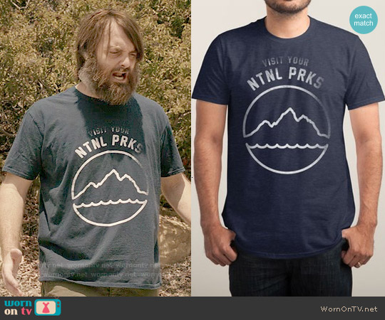 Threadless Ntnl Parks Tee worn by Will Forte on Last Man On Earth