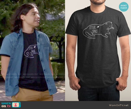 Threadless Otter Space T-shirt worn by Carlos Valdes on The Flash