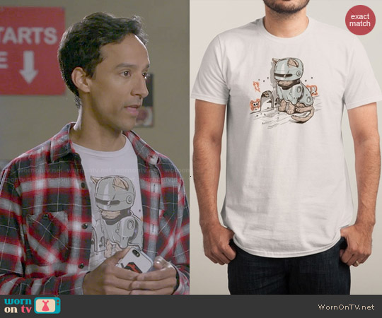Threadless Robocat Tee worn by Danny Pudi on Community