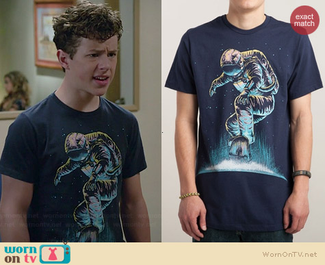 Threadless Space Grind Tee worn by Nolan Gould on Modern Family