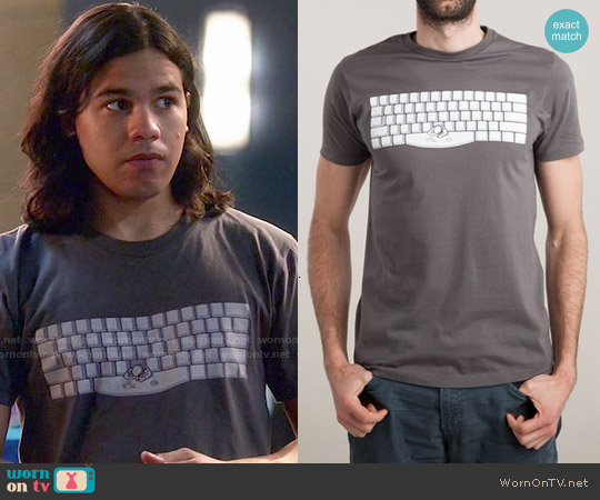 Threadless Spacebar T-shirt worn by Carlos Valdes on The Flash