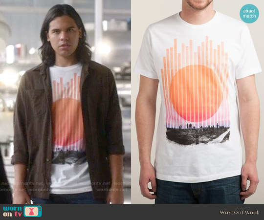 Threadless Summer Nights T-shirt worn by Carlos Valdes on The Flash