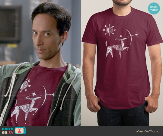 Threadless The Archer Tee worn by Danny Pudi on Community