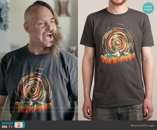 Threadless The Geometry of Sunrise T-shirt worn by Will Forte on Last Man On Earth