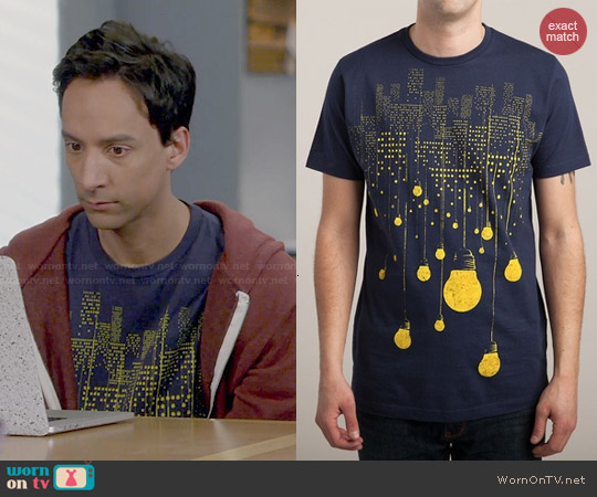 Threadless The Hanging City Tee worn by Danny Pudi on Community