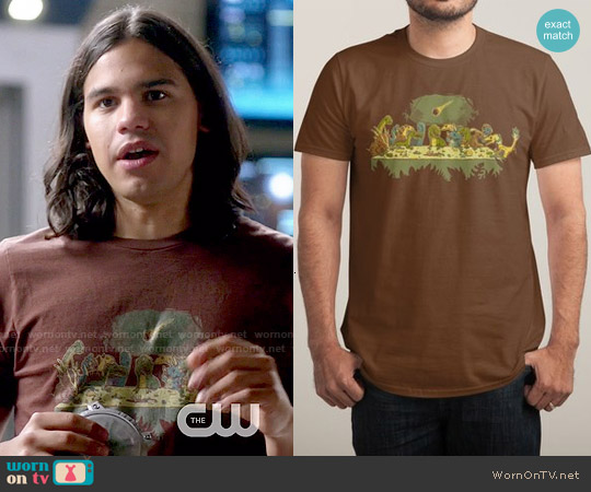 Threadless The Last Supper T-shirt worn by Carlos Valdes on The Flash