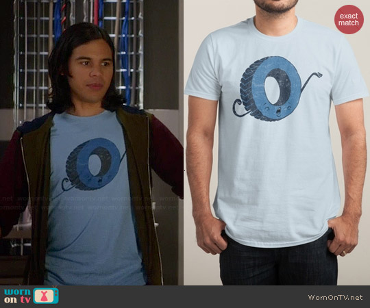 Threadless Tired Tee worn by Carlos Valdes on The Flash