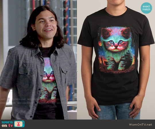 Threadless Waiting For My Fish Tee worn by Carlos Valdes on The Flash