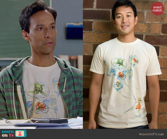 Threadless Water Balloons Tee worn by Danny Pudi on Community