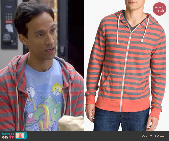 Threadsd for Thought Trim Fit French Terry Hoodie worn by Abed Nadir on Community