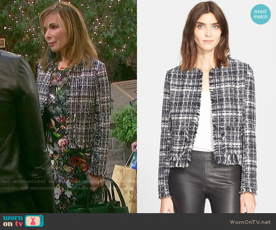 Truth & Pride Tweed Jacket worn by Kate Roberts on Days of our Lives