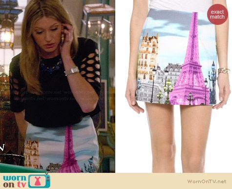 Tibi Eiffel Tower Skirt worn by Jess Macallan on Mistresses