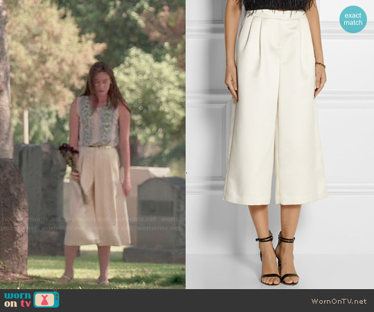 Tibi Satin Culottes worn by Charlotte Grayson on Revenge