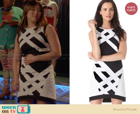 Tibi Transit Dress worn by Jenna Ushkowitz on Glee
