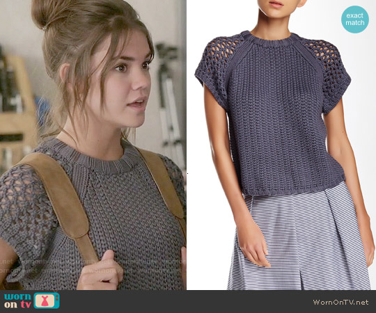 Tibi Tube Yarn Muscle Sweater worn by Maia Mitchell on The Fosters