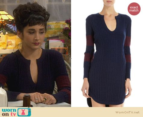 Timo Weiland Cable Knit Sweater Dress worn by Molly Ephraim on Last Man Standing