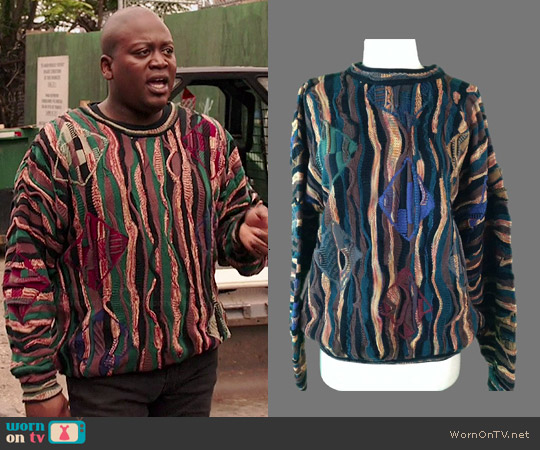 Titus Vintage Tundra Textured Sweater worn by Tituss Burgess on Unbreakable Kimmy Schmidt