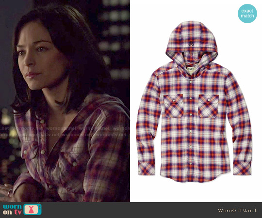 TNA Brewster Blouse worn by Kristin Kreuk on Beauty & the Beast