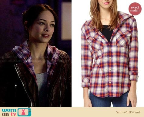 TNA Brewster Blouse worn by Kristin Kreuk on BATB