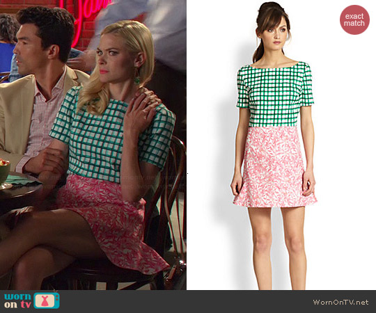 TBA (To Be Adored) Mixed Print Cotton Dress worn by Jaime King on Hart of Dixie