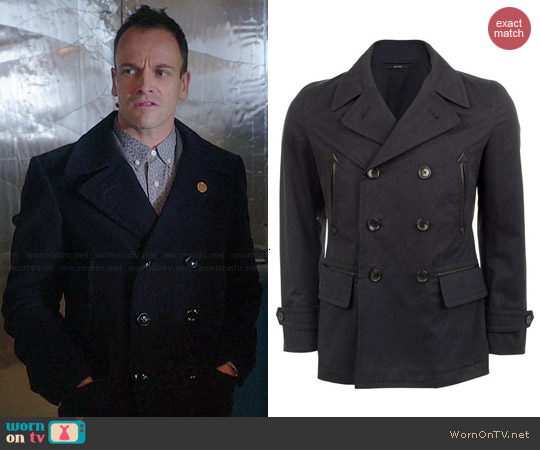 Tom Ford Cotton Pea Coat worn by Johnny Lee Miller on Elementary
