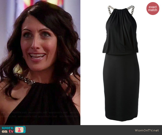 Tom Ford Draped Chain Dress worn by Lisa Edelstein on GG2D