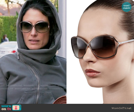 Tom Ford Rickie Sunglasses worn by Lisa Edelstein on GG2D