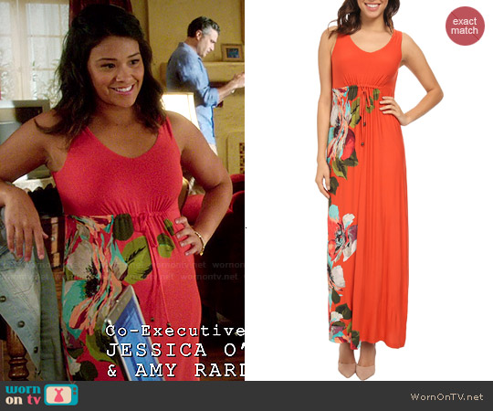 Tommy Bahama 'Madalena Rose' Long Dress worn by Gina Rodriguez on Jane the Virgin