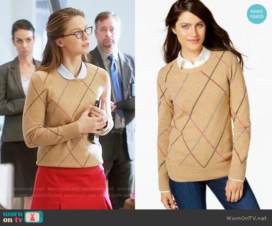 Tommy Hilfiger Argyle Sweater worn by Melissa Benoist on Supergirl