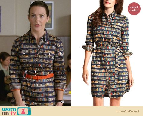 Tommy Hilfiger Book Print Shirtdress worn by Kristin Davis on Bad Teacher