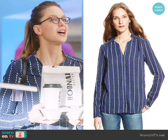 Tommy Hilfiger Diamond Print Tunic worn by Melissa Benoist on Supergirl