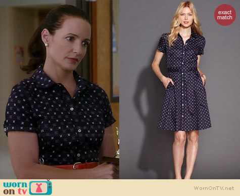 Tommy Hilfiger Foulard Printed Shirtdress worn by Kristin Davis on Bad Teacher
